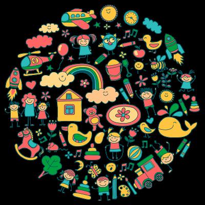 Детский цветной круг в центре развития